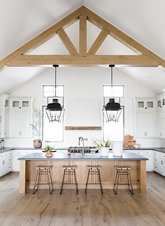exposed wood beams country kitchen ideas