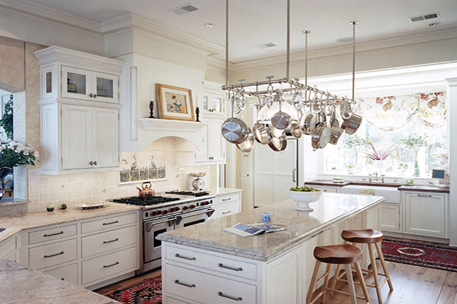 hanging pots country kitchen ideas