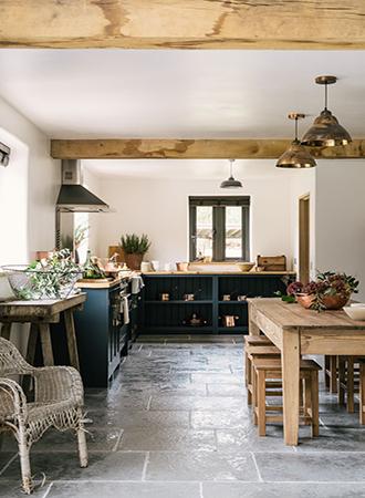concrete stone floors country kitchen ideas