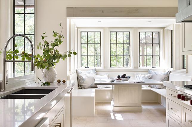 white linen kitchen banquet