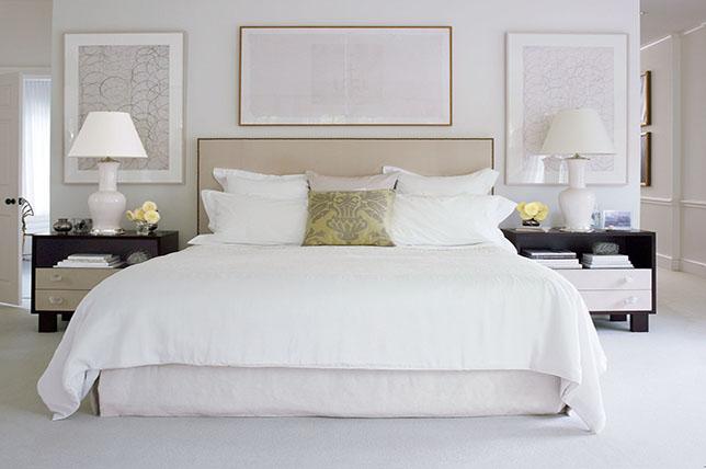 Triptych bedroom wall art ideas