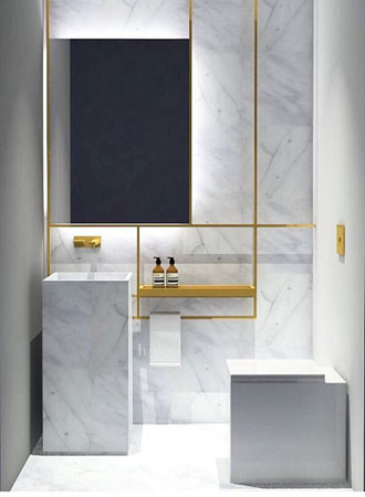 Bathroom wall design modern details