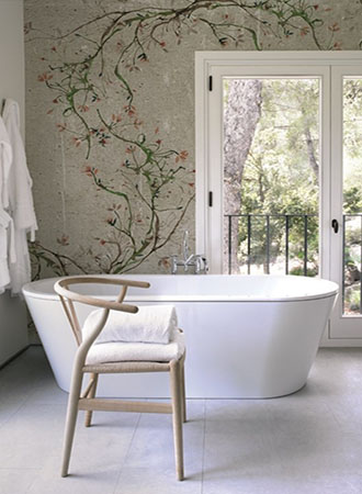 botanical bathroom wall art ideas