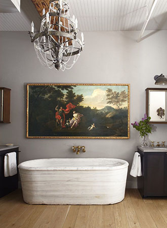 oversized bathroom wall art ideas
