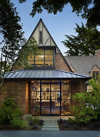 modern Tudor Home exterior colors