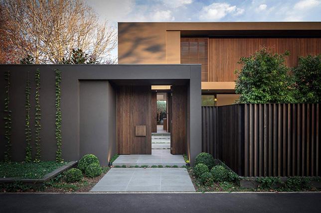 Retro exterior brown house colors