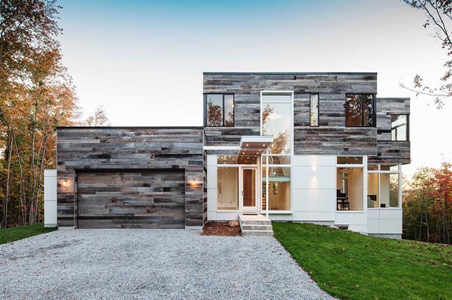 Exterior paints made from recycled wood