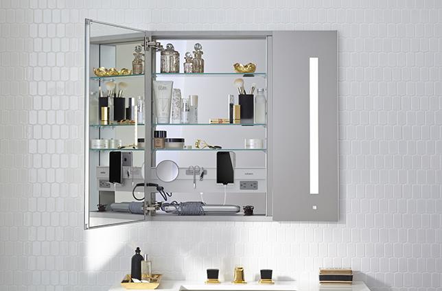 Bathroom storage ideas magnetic shelf
