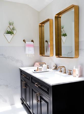 Bathroom storage ideas counter shelf