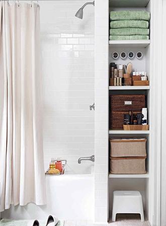 Bathroom storage ideas bathtub caddy