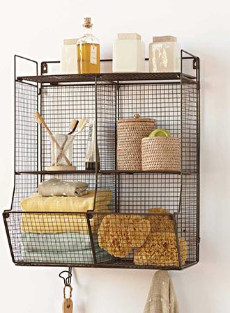 Bathroom storage ideas hanging shelf