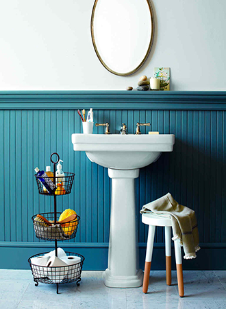 Bathroom storage ideas tiered baskets