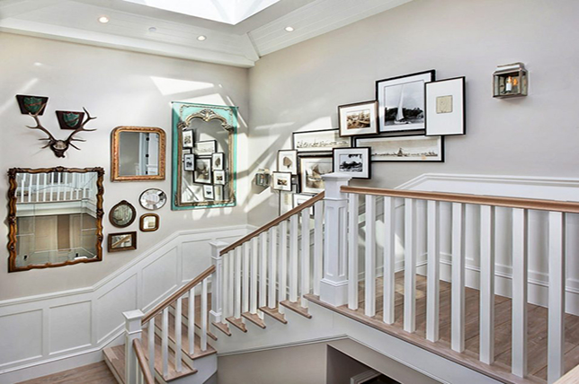 Gallery wall stair ideas
