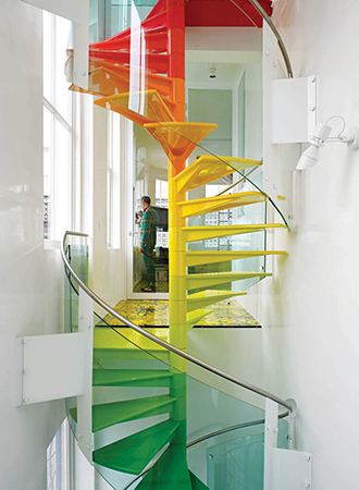 colorful staircase ideas