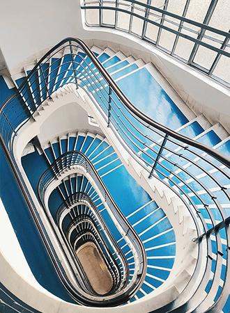 blue staircase ideas