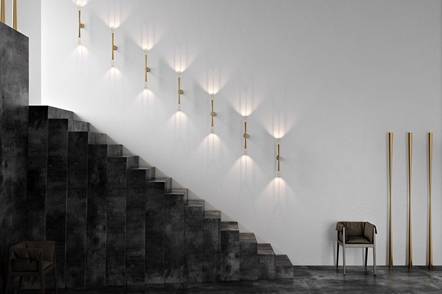 Wall lamp staircase ideas