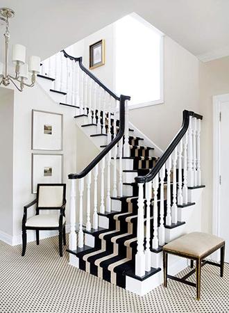 Black and white staircase ideas