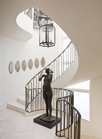 Statement lighting staircase ideas