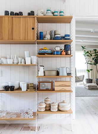 modern kitchen wall decoration open pantry