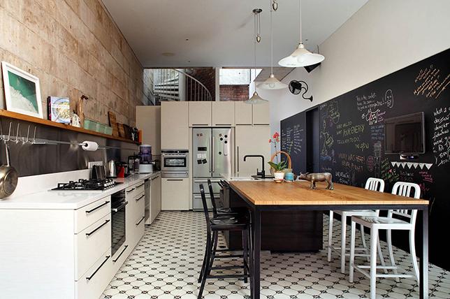 modern kitchen wall decoration blackboard walls