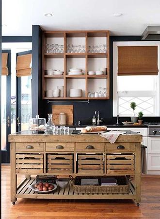modern kitchen wall decoration dark walls