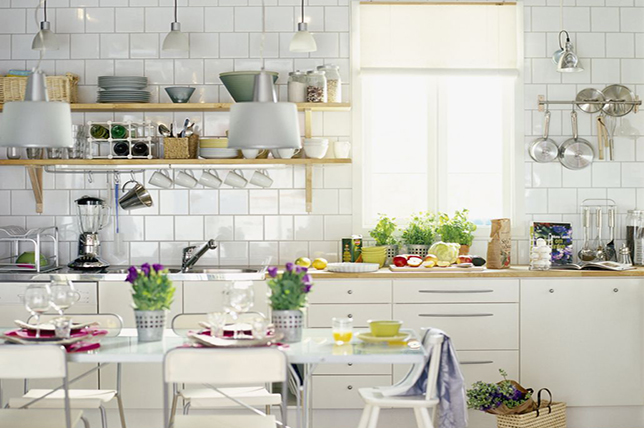 modern kitchen wall decoration kitchen ware display