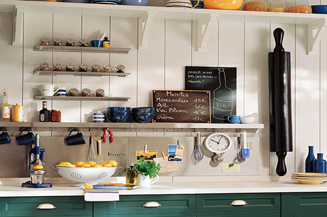 modern kitchen wall decoration pots and pans