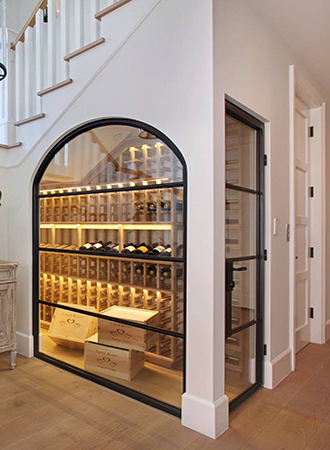 modern kitchen wall decoration wine display