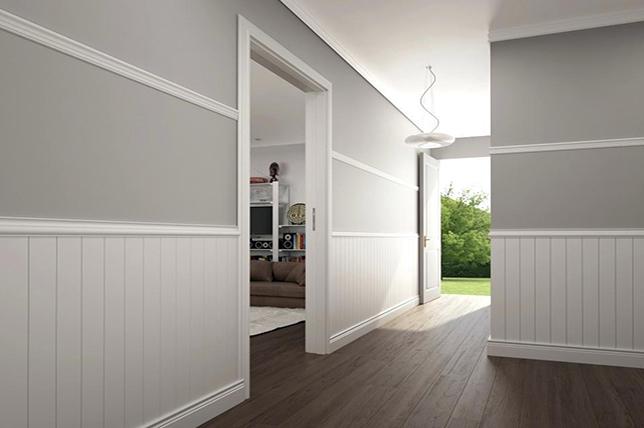 cheap home decor ideas chair rail molding