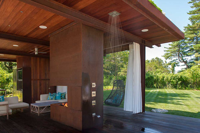 eco-friendly outdoor shower ideas