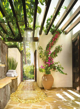 elegant ideas for outdoor showers
