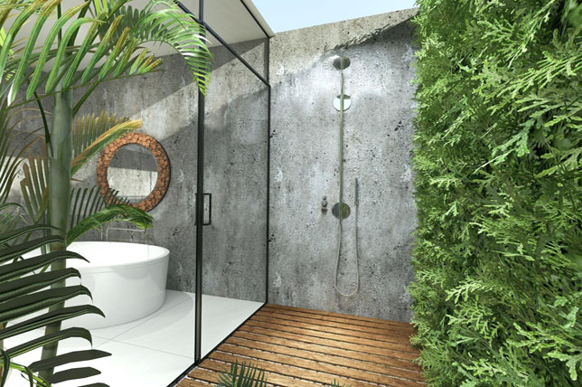tropical outdoor shower ideas