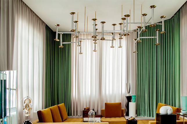 Jewel tone curtain ideas