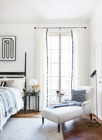 Ideas for fringed curtains