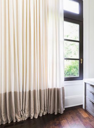 contrasting curtain ideas
