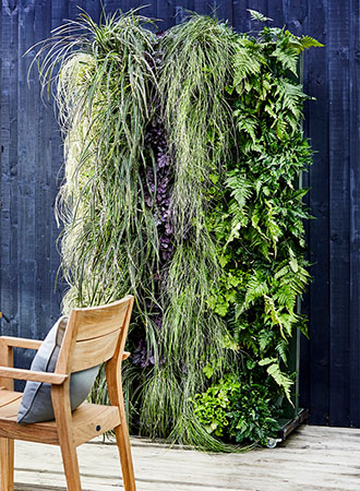 modern deck ideas living wall