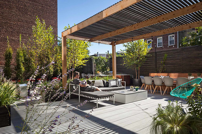 modern deck ideas pergola