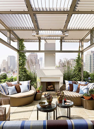 modern deck ideas living room feel