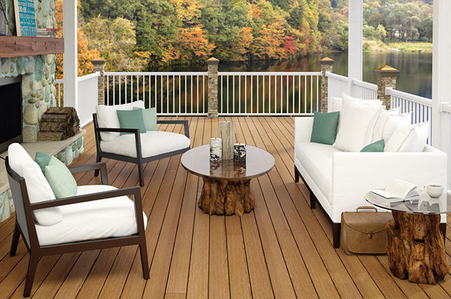 modern deck ideas made of white and wood