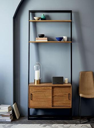 Bookshelf storage bedroom decor