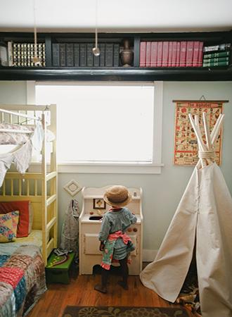 High shelf bedroom decor