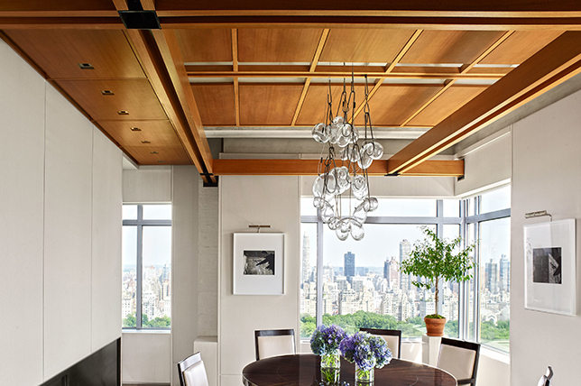 Design ideas for wood-paneled ceilings