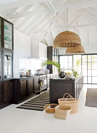 Design ideas for vaulted white ceilings