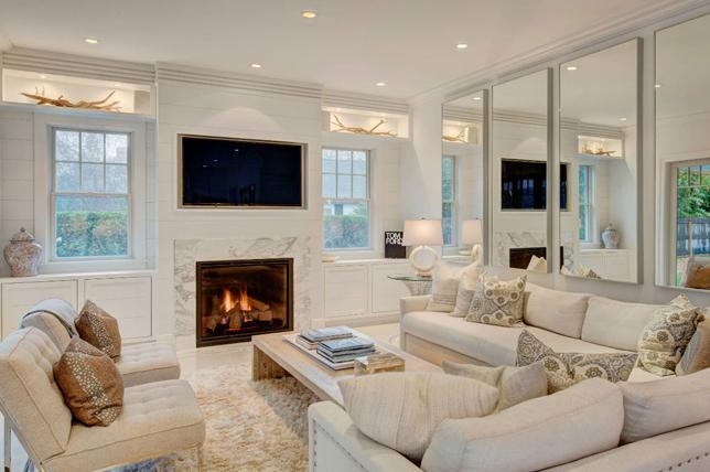 interesting mirror living room wall decor ideas