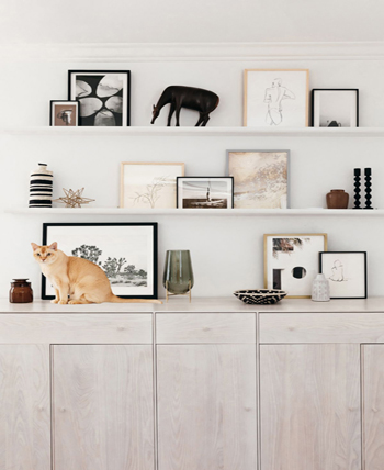 Bookshelf living room wall decor ideas