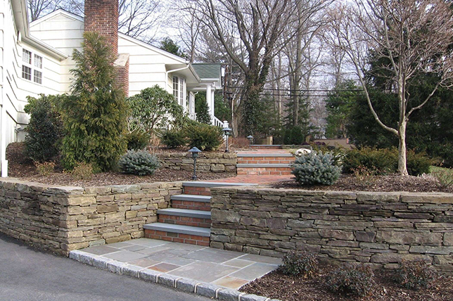 Ideas for stair retaining walls