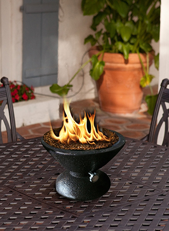 Table fireplace ideas