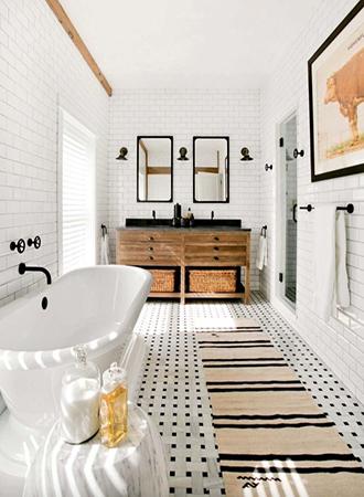 black and white rustic bathroom ideas