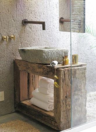open shelves rustic bathroom ideas