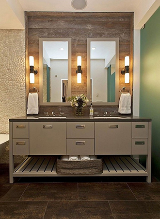 rustic bathroom ideas of mirror with wooden frame
